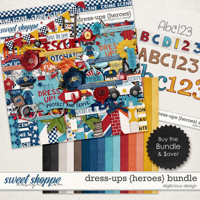 Dress-ups {Heroes} Bundle by Digilicious Design