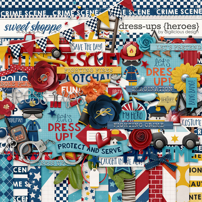 Dress-ups {Heroes} Kit by Digilicious Design