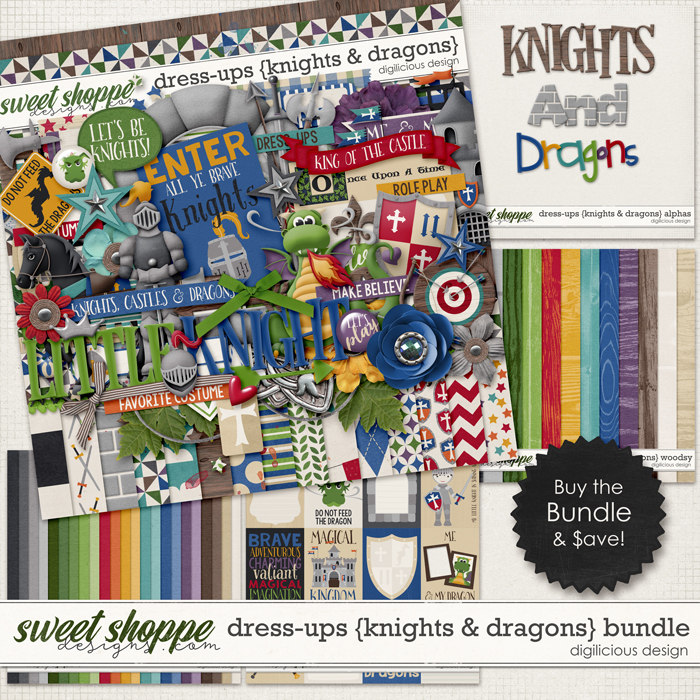 Dress-ups {Knights & Dragons} Bundle by Digilicious Design