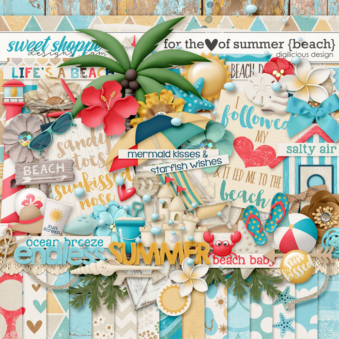 For the Love of Summer {Beach} Kit by Digilicious Design