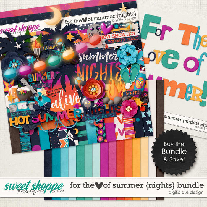 For the Love of Summer {Nights} Bundle by Digilicious Design