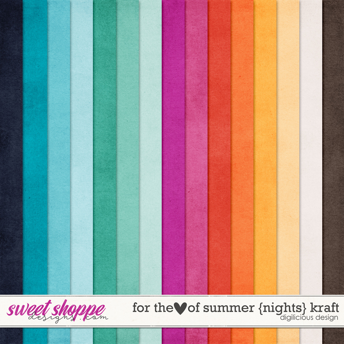 For the Love of Summer {Nights} Kraft by Digilicious Design