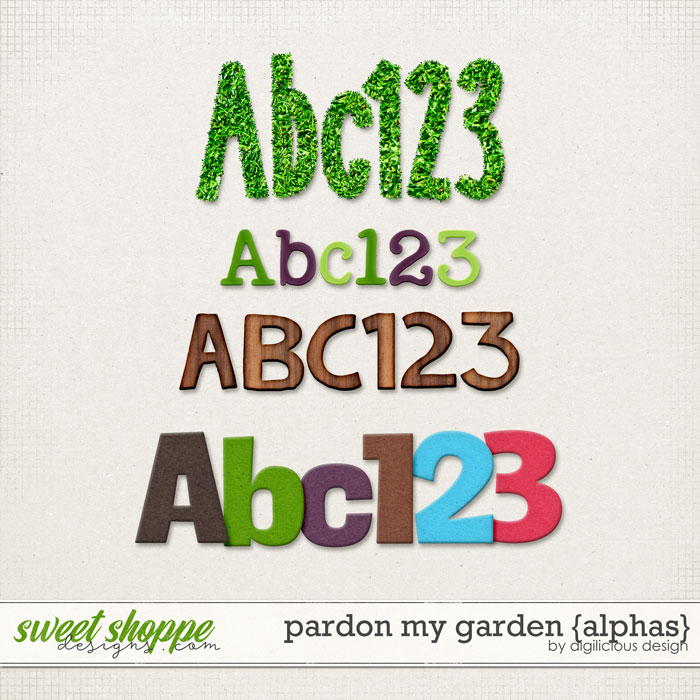 Pardon My Garden {Alphas} by Digilicious Design