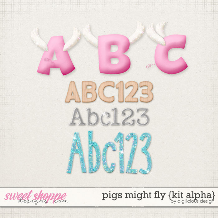 Pigs Might Fly {Alphas} by Digilicious Design