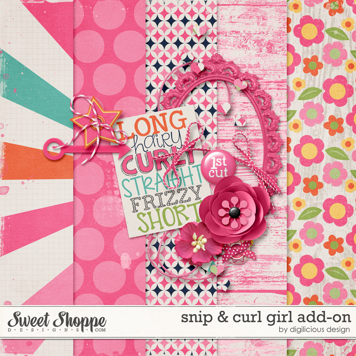 Snip & Curl Girl Add-On by Digilicious Design