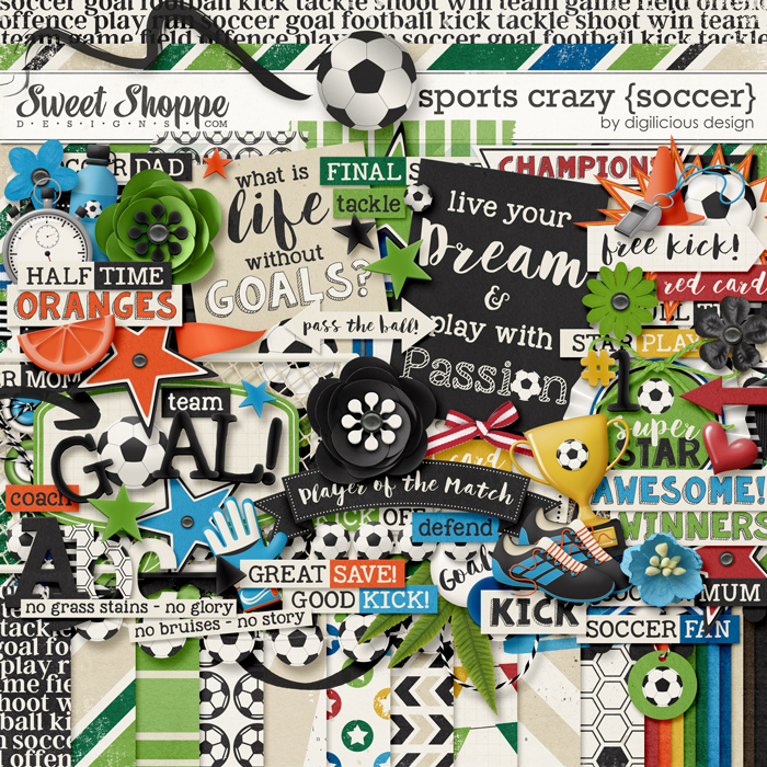Sports Crazy {Soccer} by Digilicious Design