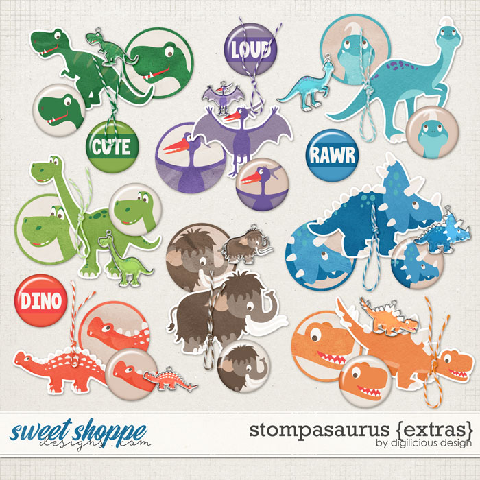 Stompasaurus {Extras} by Digilicious Design