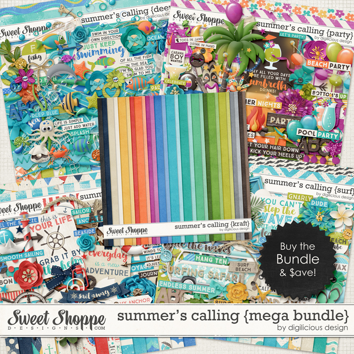 Summer's Calling {Mega Bundle} by Digilicious Design