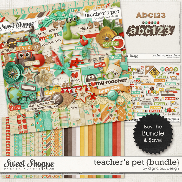Teacher's Pet Bundle by Digilicious Design