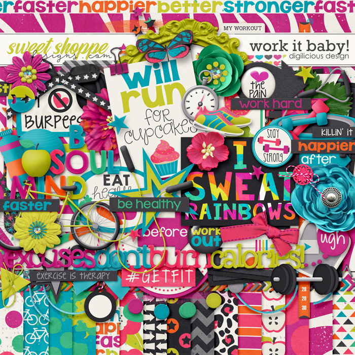 Work It Baby! {Kit} by Digilicious Design