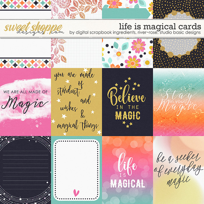 Life Is Magical | Cards by River Rose Designs, Studio Basic Designs & Digital Scrapbook Ingredients