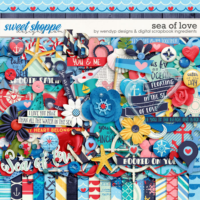 Sea of love by Digital Scrapbook Ingredients and WendyP Designs