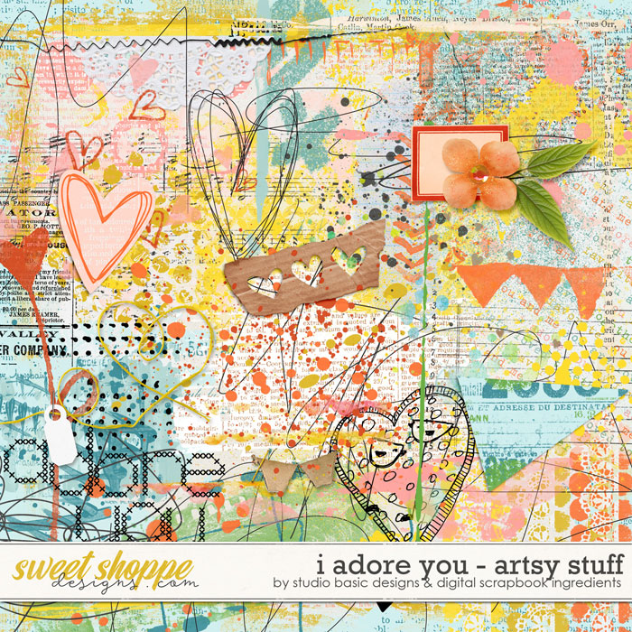 I Adore You Artsy Stuff by Digital Scrapbook Ingredients and Studio Basic