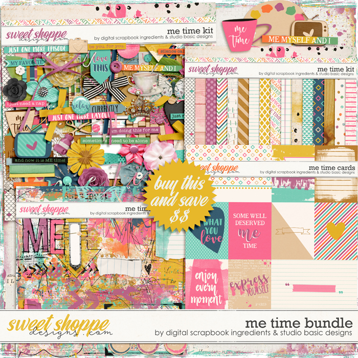 Me Time Bundle by Digital Scrapbook Ingredients and Studio Basic