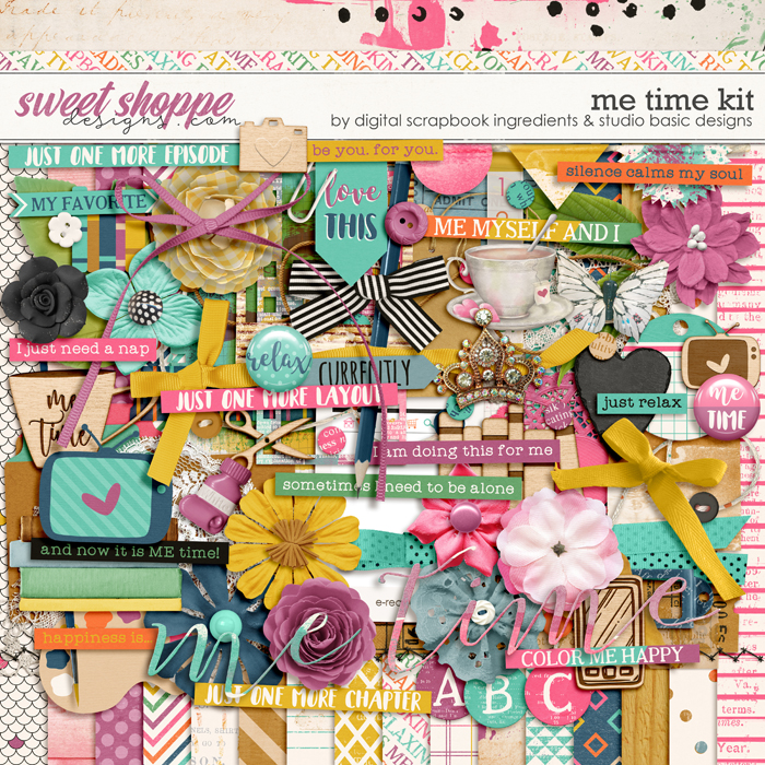 Me Time Kit by Digital Scrapbook Ingredients and Studio Basic