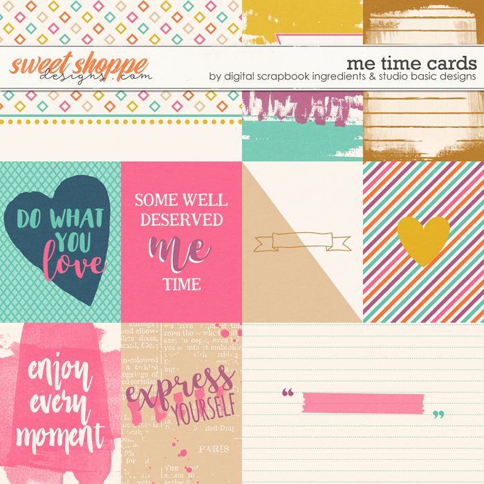 Me Time Cards by Digital Scrapbook Ingredients and Studio Basic