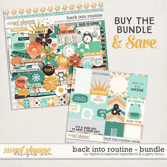 Back Into Routine Bundle by Sugary Fancy & Digital Scrapbook Ingredients