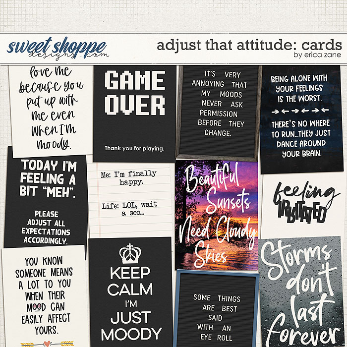 Adjust That Attitude: Cards by Erica Zane