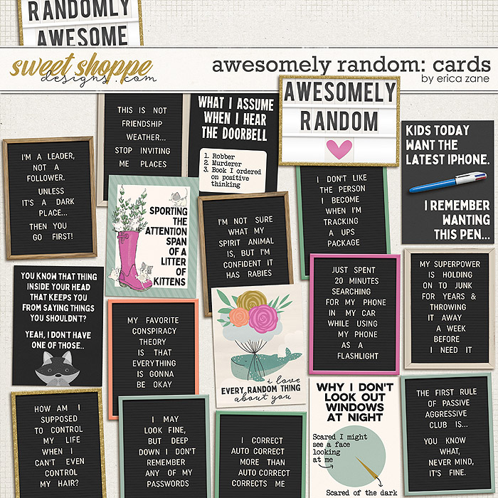 Awesomely Random: Cards by Erica Zane