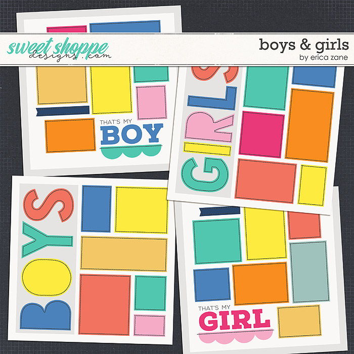 DUO 4 - Boys & Girls Templates by Erica Zane