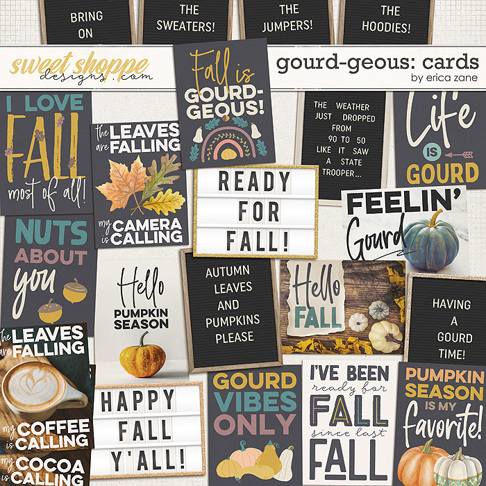 Gourd-geous: Cards by Erica Zane