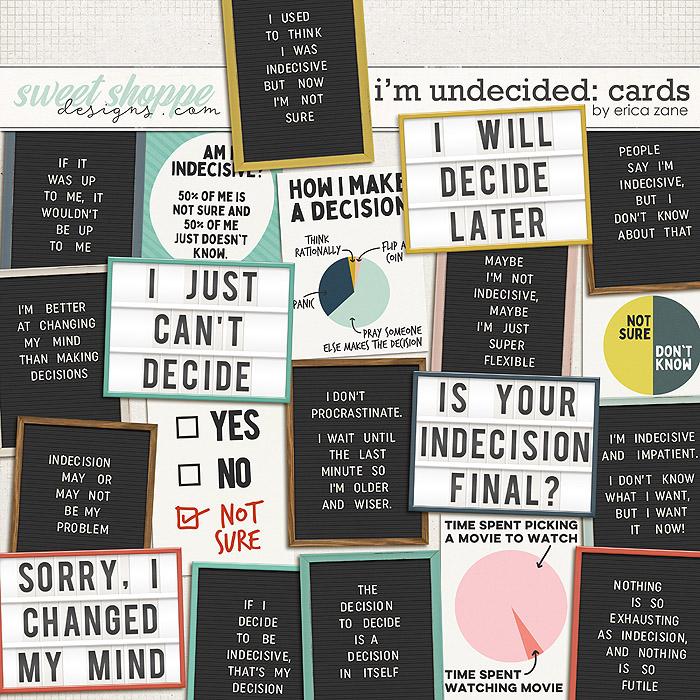 I'm Undecided: Cards by Erica Zane