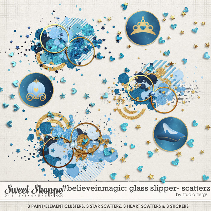 #believeinmagic: GLASS SLIPPER SCATTERZ by Studio Flergs