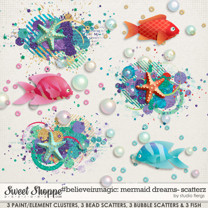 #believeinmagic mermaid dreams: SCATTERZ by Studio Flergs