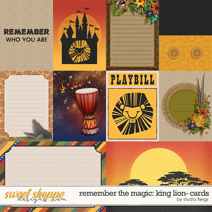 Remember the Magic: KING LION- CARDS by Studio Flergs