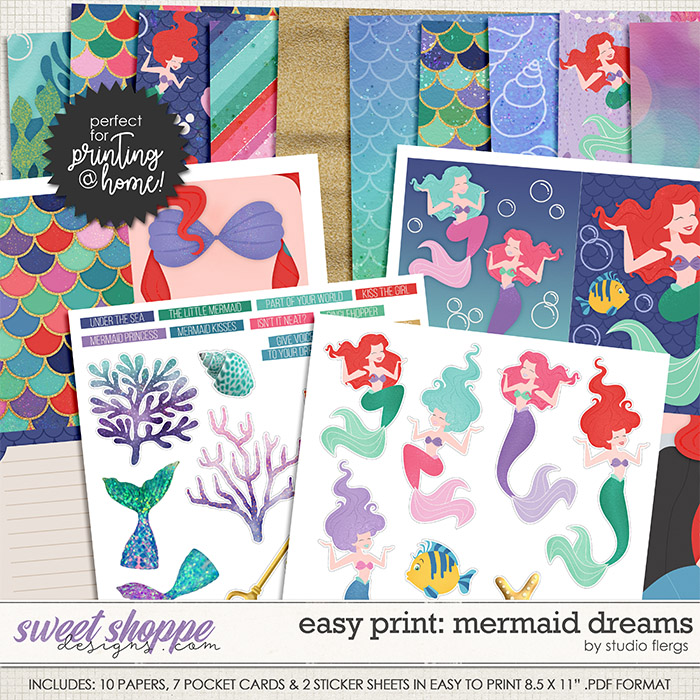 Remember the Magic: MERMAID DREAMS- EZ PRINT by Studio Flergs