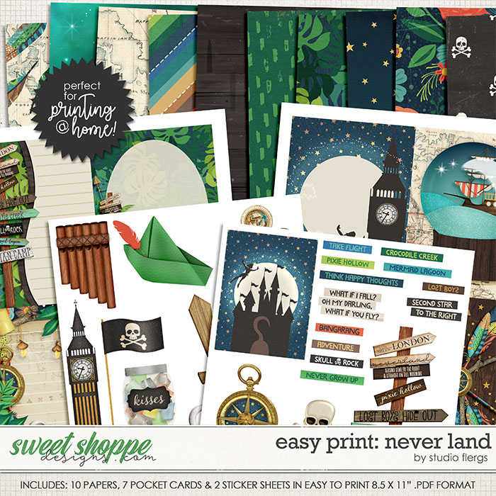 Remember the Magic: NEVER LAND- EZ PRINT by Studio Flergs