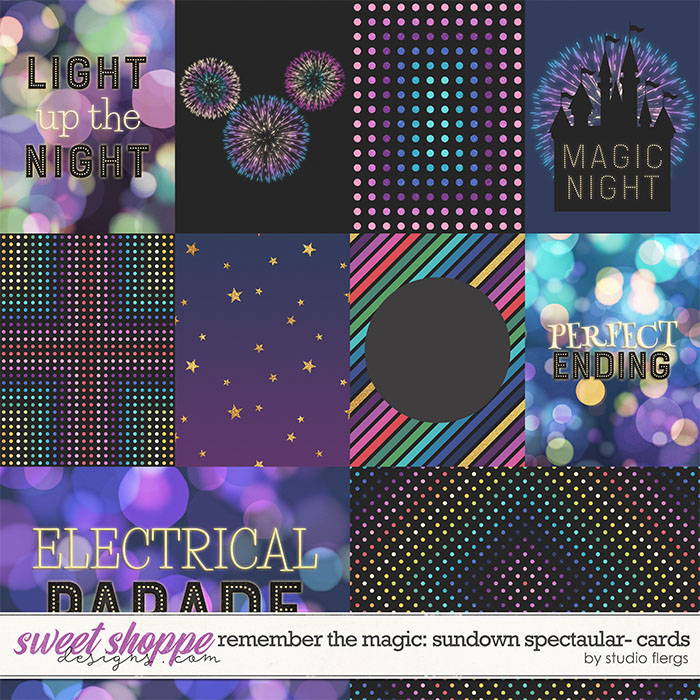 Remember the Magic: SUNDOWN SPECTACULAR- CARDS by Studio Flergs