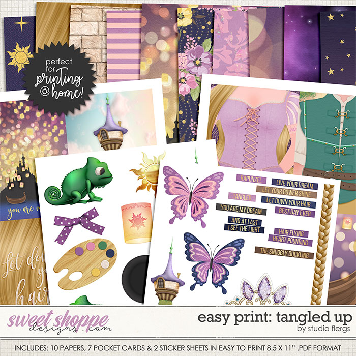 Remember the Magic: TANGLED UP- EZ PRINT by Studio Flergs