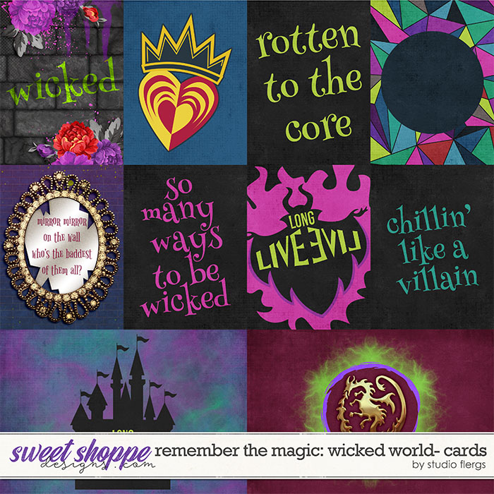 Remember the Magic: WICKED WORLD- CARDS by Studio Flergs