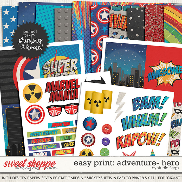 Adventure: HERO- EZ PRINT by Studio Flergs