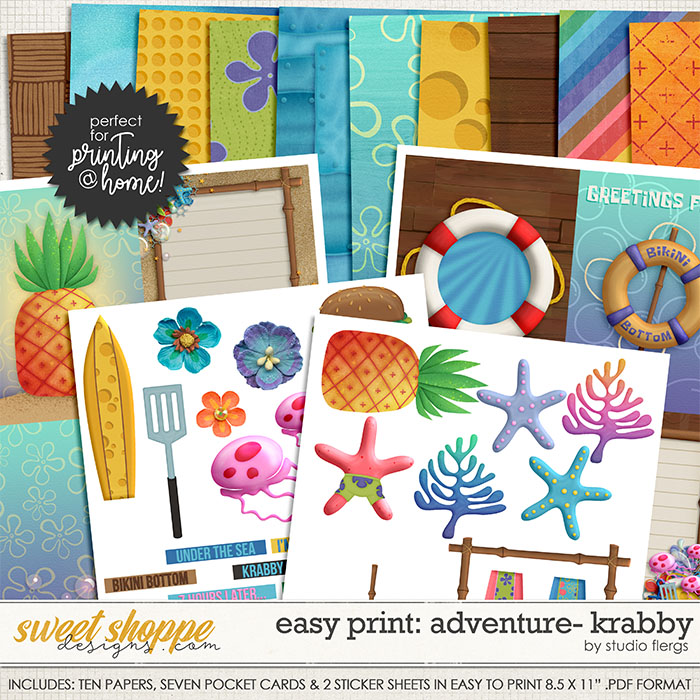 Adventure: KRABBY- EZ PRINT by Studio Flergs