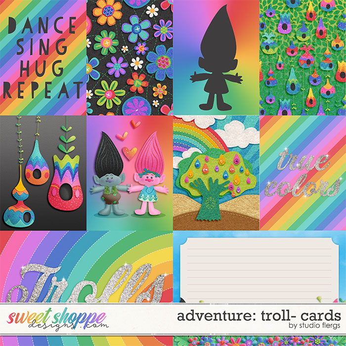 Adventure: Troll- CARDS by Studio Flergs