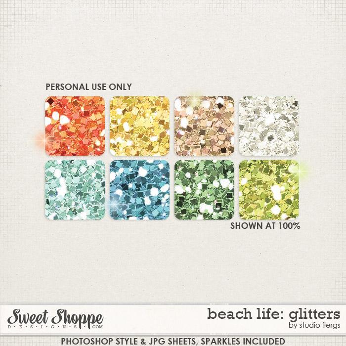 Beach Life: GLITTERS by Studio Flergs