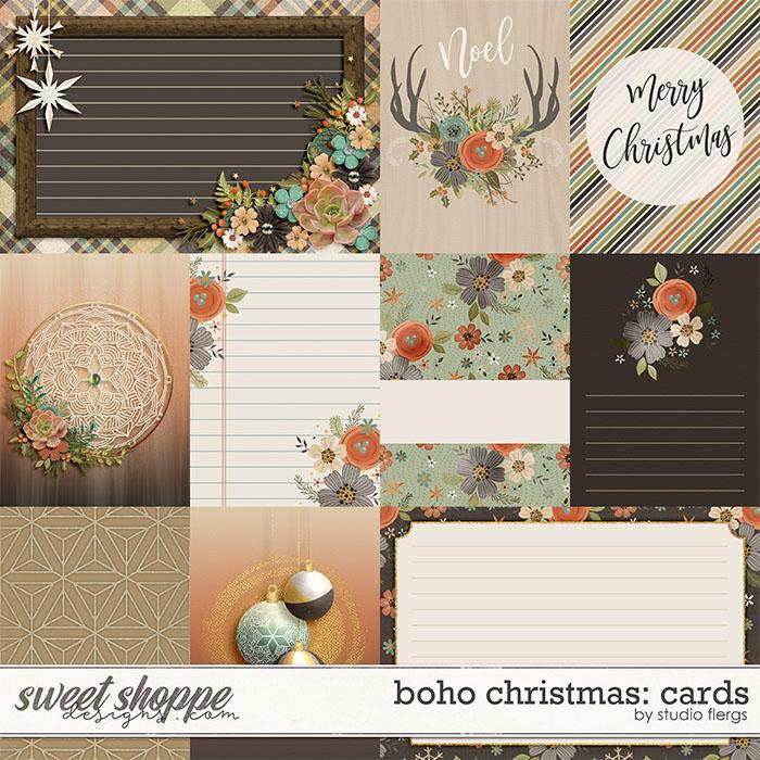 Boho Christmas: CARDS by Studio Flergs