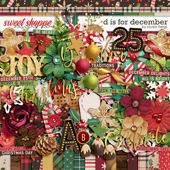 D is for December by Studio Flergs
