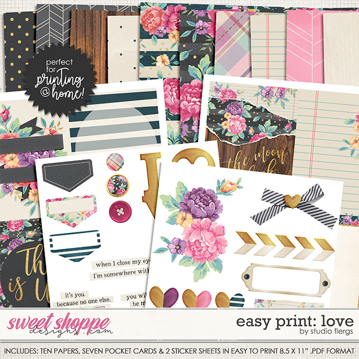 Scrap Your Stories: LOVE- EZ PRINT by Studio Flergs