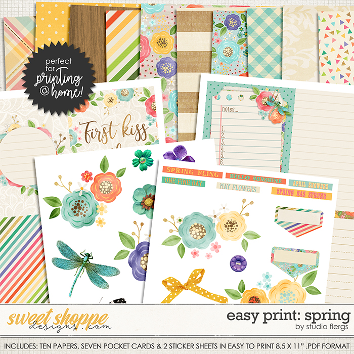 Scrap Your Stories: SPRING- EZ PRINT by Studio Flergs