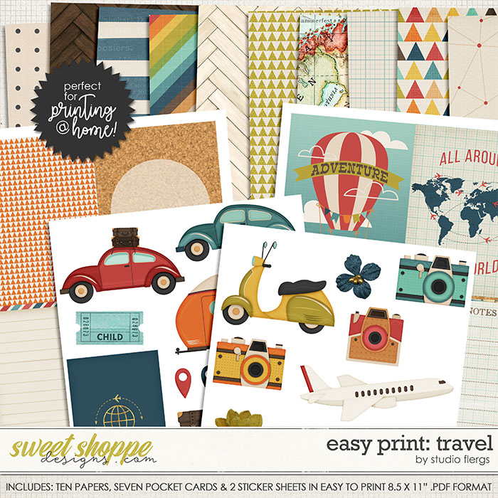 Scrap Your Stories: TRAVEL- EZ PRINT by Studio Flergs