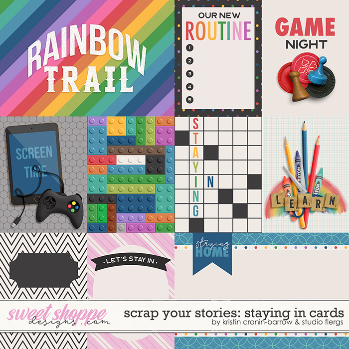 Scrap Your Stories: Staying In- CARDS by Studio Flergs & Kristin Cronin-Barrow