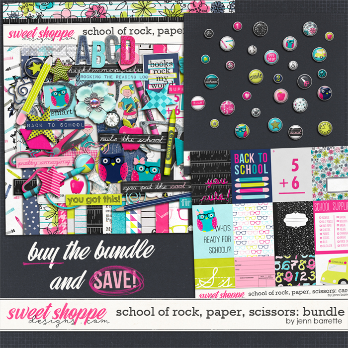 School of Rock, Paper, Scissors: Bundle by Jenn Barrette