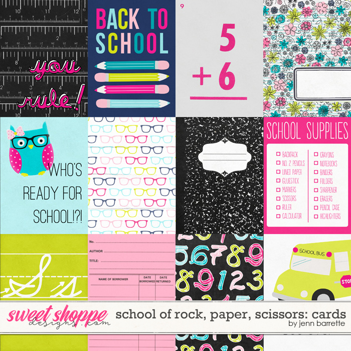 School of Rock, Paper, Scissors: Cards by Jenn Barrette