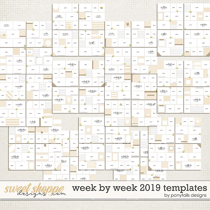 Week by Week 2019 Templates by Ponytails