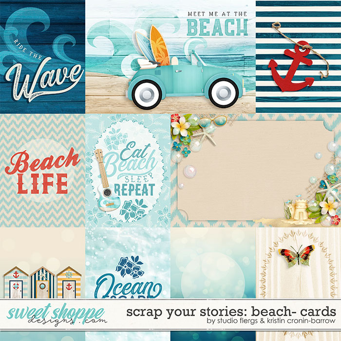 Scrap Your Stories: Beach- CARDS by Studio Flergs & Kristin Cronin-Barrow