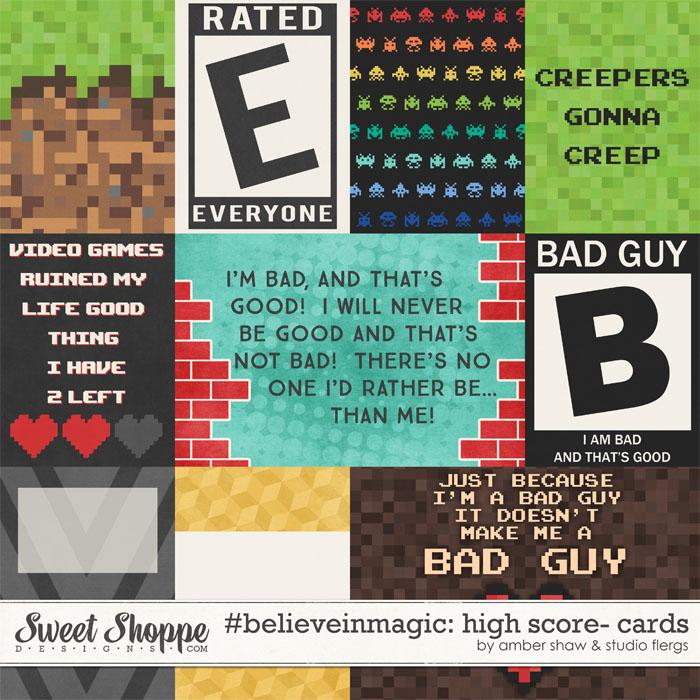 #believeinmagic: High Score: Cards by Amber Shaw & Studio Flergs
