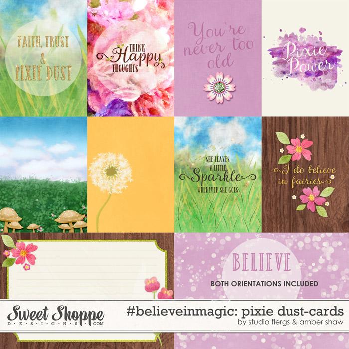 #believeinmagic: Pixie Dust Cards by Amber Shaw & Studio Flergs